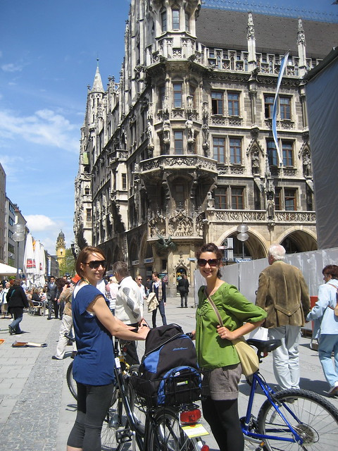 A. and I cycling in Munich in 2010
