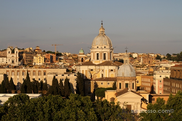 View from the rooftop, Vinoroma, Rome, Italy