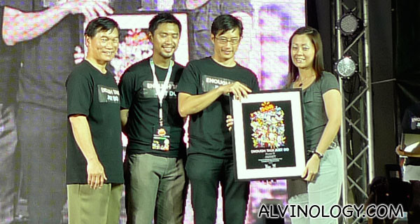 Token of appreciation for one of the sponsors, Panasonic