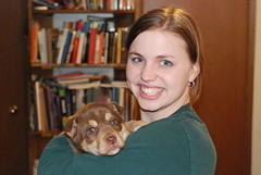 Angie With Her Puppy!