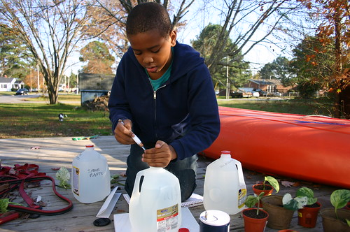 Tyrek's Science Fair 2010 - Mixing Salt