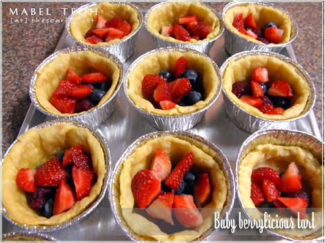 Baby berrylicious tart