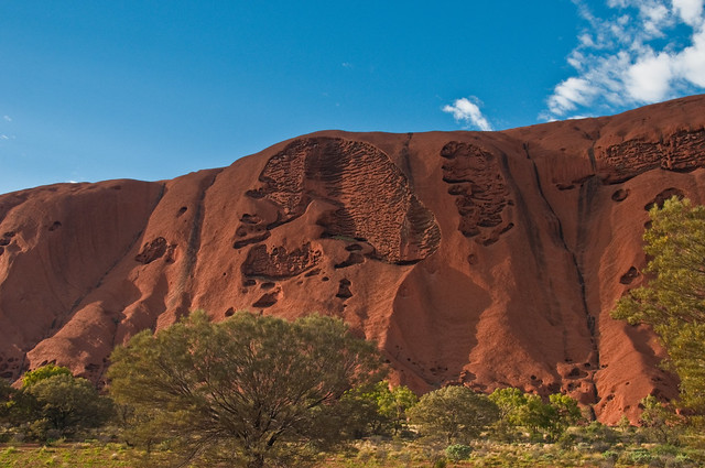 Erosion of Uluru; or Darth Vader