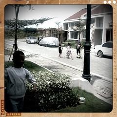 Gaga with neighborhood girls