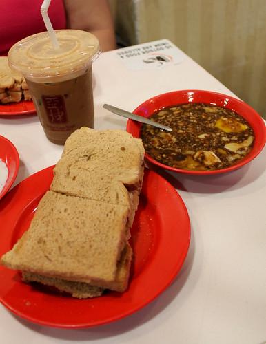 Breakfast at Ya Kun Kaya in Singapore