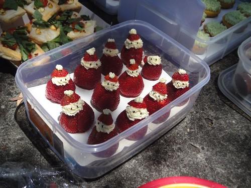 Ayana's strawberry Santas