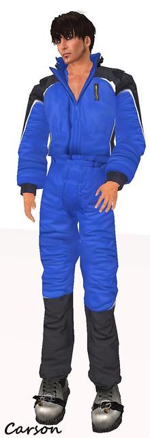 sf design snowsuit mens - blue
