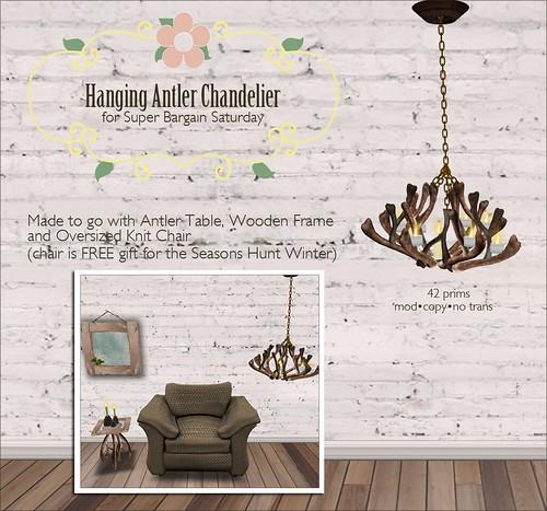 Hanging Antler Chandelier