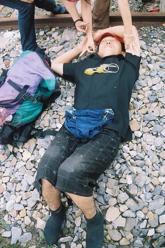 阿里山森林火車鐵軌太累了睡著了3