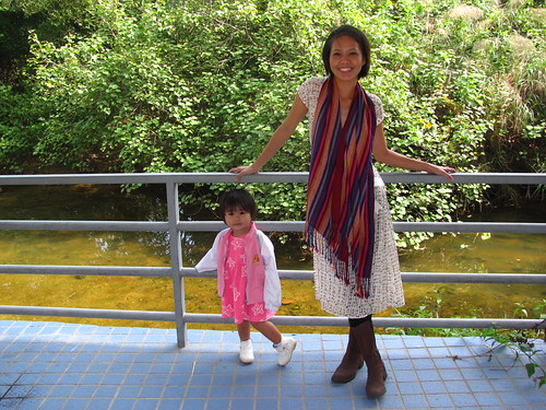 Lia and her Mama, Mui Wo, HK 2010