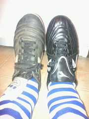 Old & new cleats. Shiny!