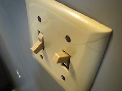 Light switch in the bathroom