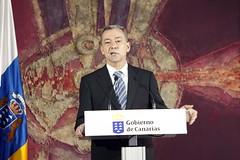 Comparecencia de Paulino Rivero tras el último Consejo de Gobierno de 2010