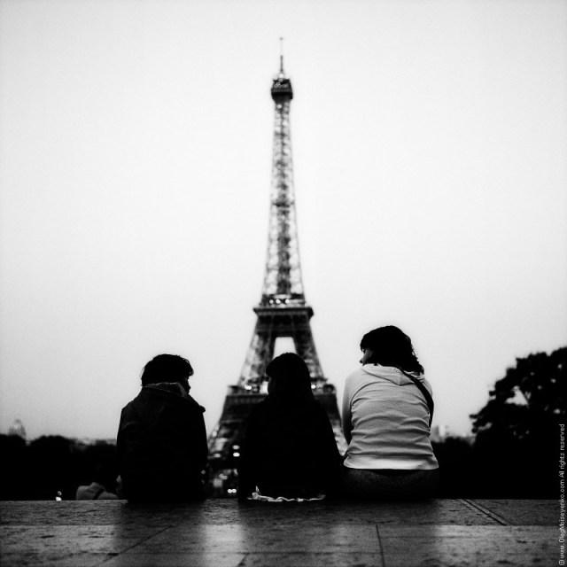 Waiting for Eiffel Tower Lightshow, Paris