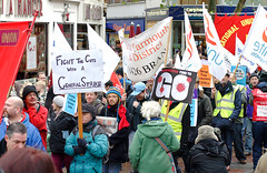 A protest march against the Tory Coalition gov...
