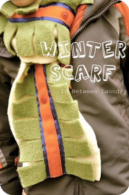 kid fleece scarf