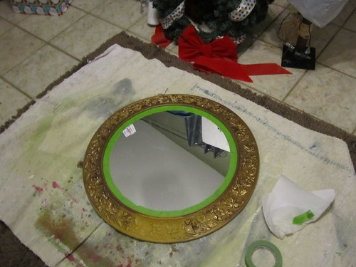 Round Mirror BEFORE