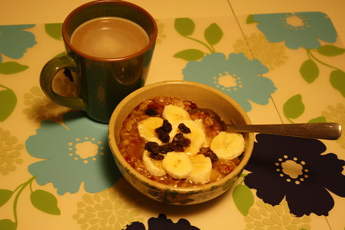 stovetop oats, coffee