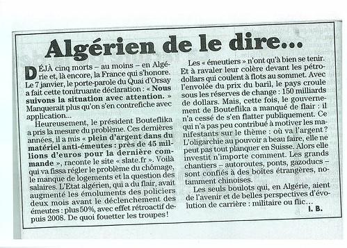 Algérie canard enchaîné
