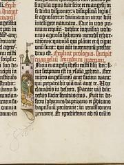 Gutenberg Bible - detail from the New Testament