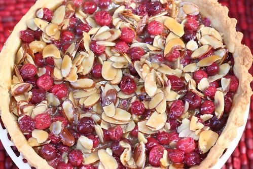 Caramel Cranberry Tart