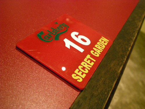 Secret Garden - table numbers