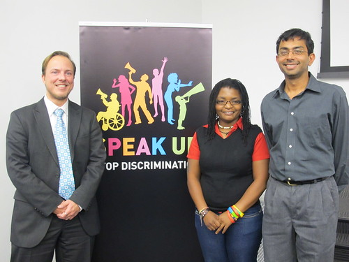 Activists from Holland, Namibia and Guyana