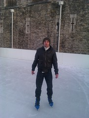Mark at Tower of London Ice Skating