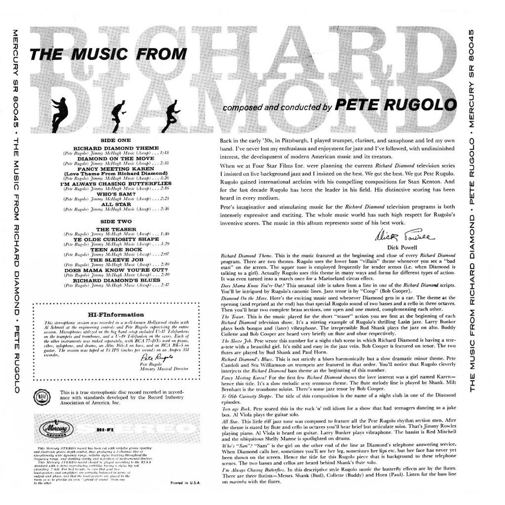Pete Rugolo - Richard Diamond