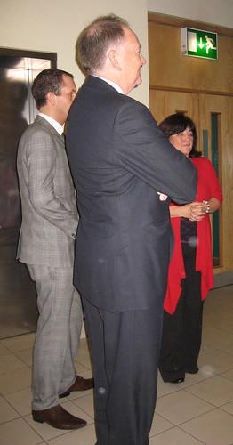 James Draper, Prof. John Brooks and Kaye Tew