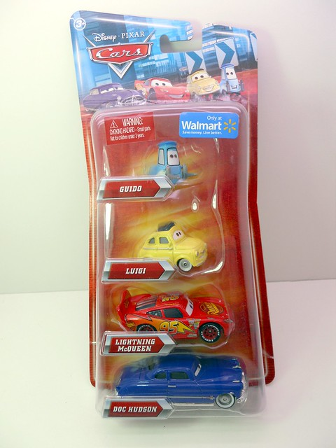 disney cars wal mart exclusive townies 2  4 pack  (1)