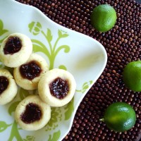 Key Lime Raspberry Thumbprint Cookies