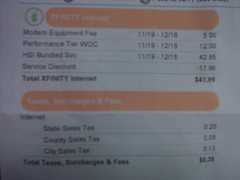Comcast bill