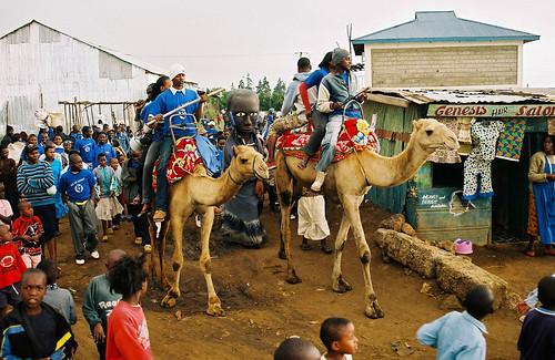 Sisi ni Amani carnival in Korogocho