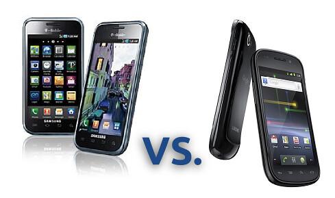 Samsung Galaxy vs Nexus S