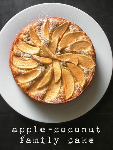 apple-coconut family cake
