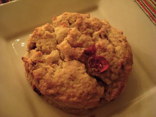 Lemon Ginger Cranberry Cream Scones