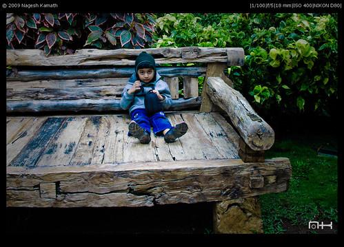 Flintstone furniture at Lake Forest Resort