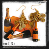 LNRORO orecchini dorati veuve clicquot golden earrings 1129 natale