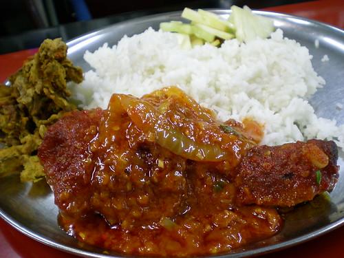 Indian lunch - nasi kandar 2