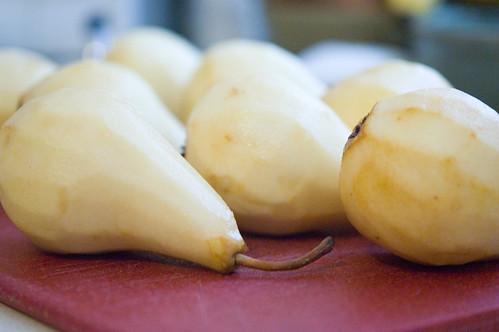 pears, peeled