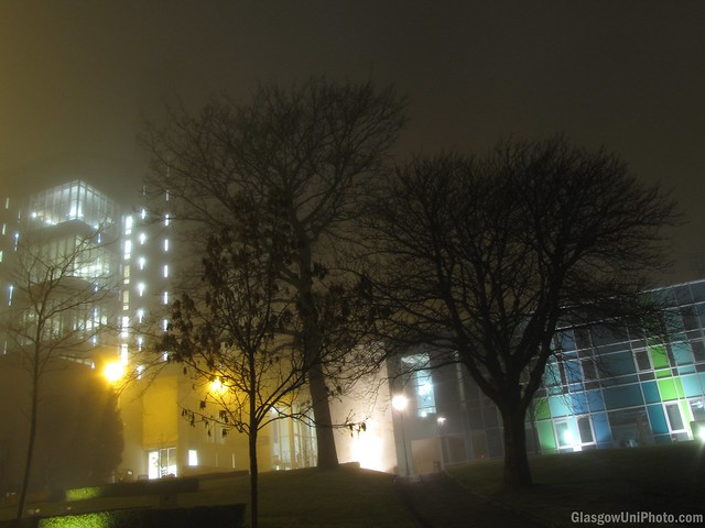 Library Hill in the Fog