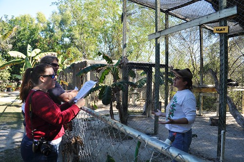 Freelance Journalists Kelly & Kevin Merritt and Lauri Caron at Octagon Wildlife Sanctuary
