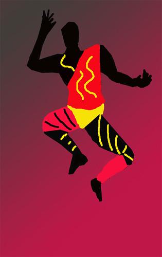 Moresca Dancer. Digital painting.
