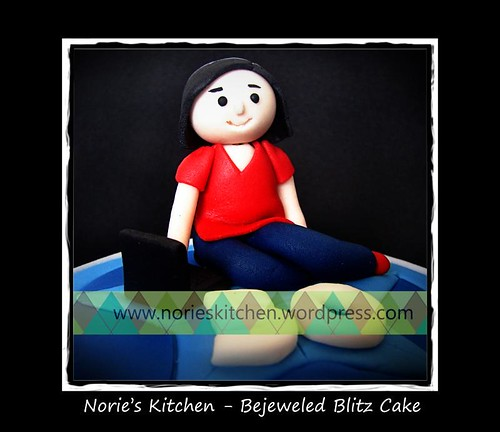 Norie's Kitchen - Bejeweled Blitz Cake - Topper Detail