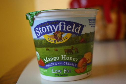 Stonyfield Organic Mango Honey yogurt