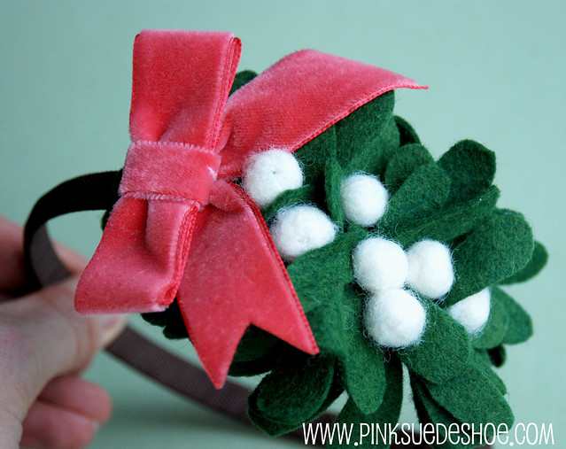 mistletoe headband 1