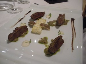 Pigeon with livers, mushrooms and mezze rigatoni