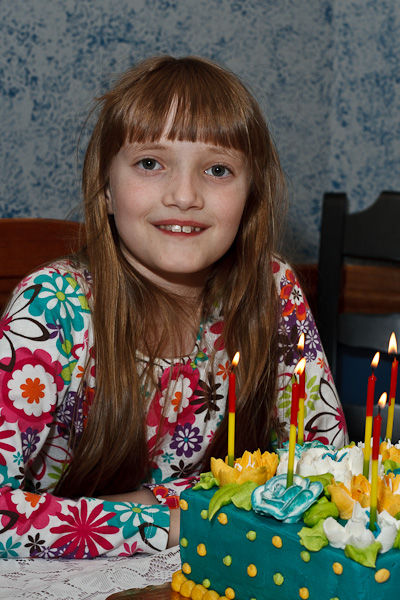 The big one about to blow out her birthday candles.