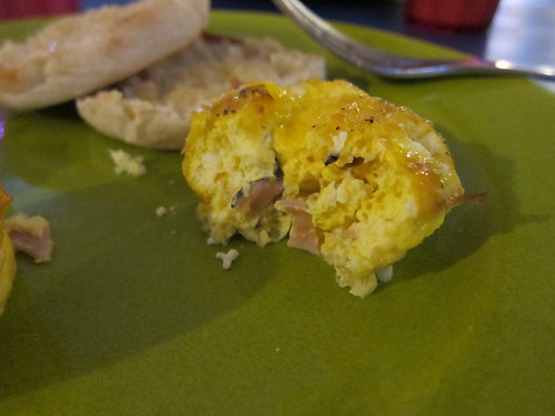 Ham & Goat Cheese Frittata Insides